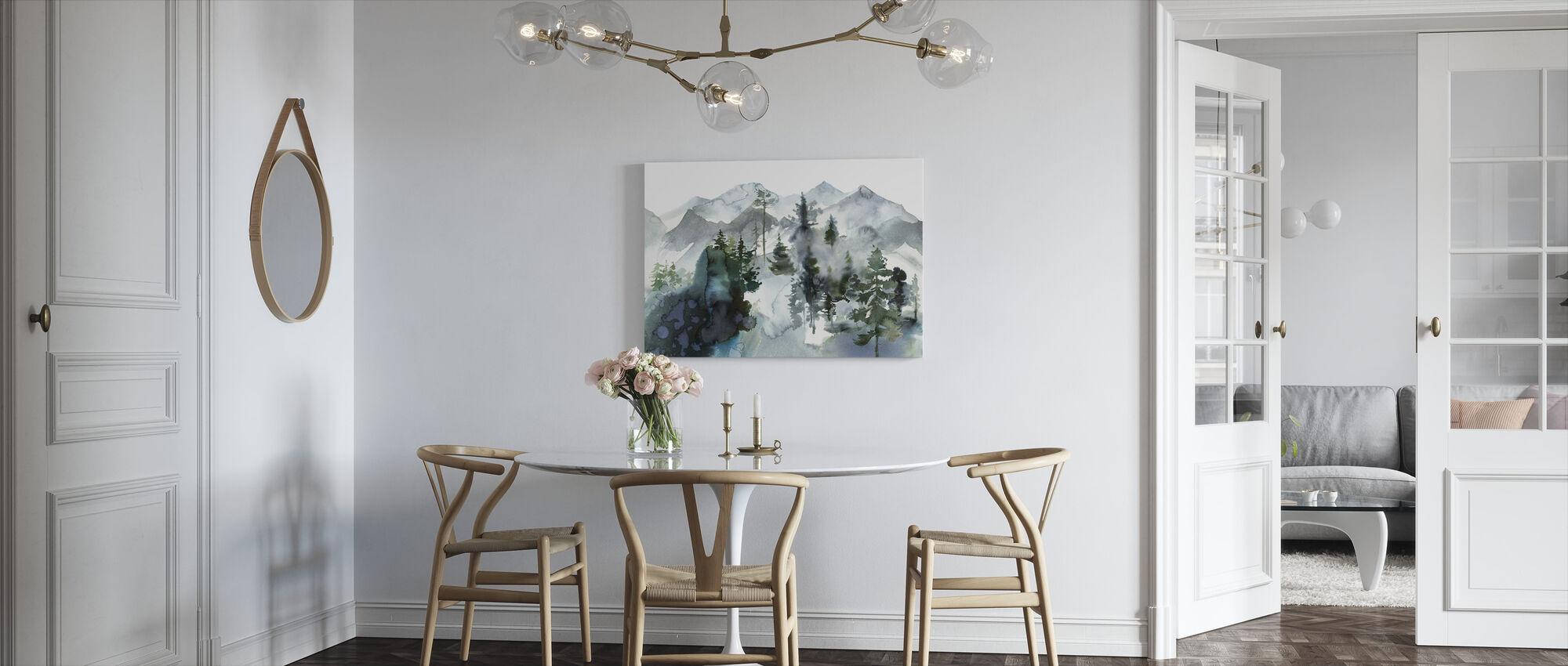 Aquarel Landschap - Canvas print - Keuken