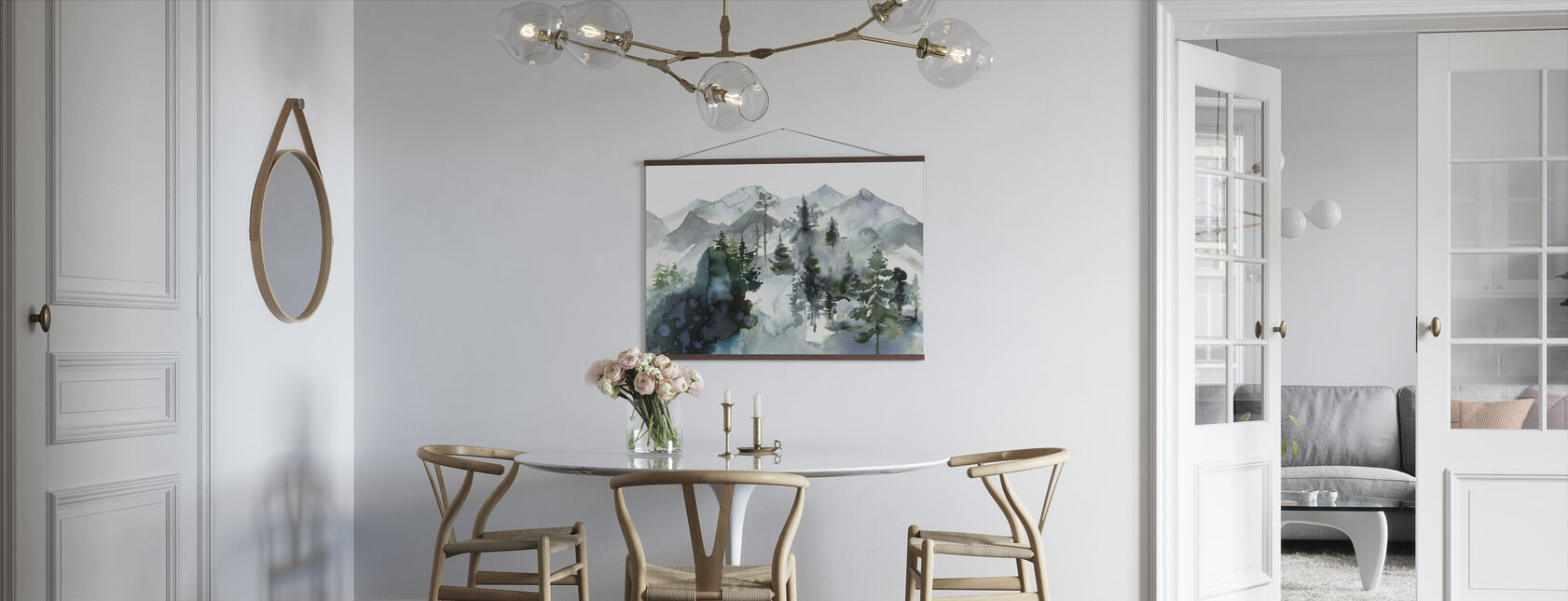 Watercolor Landscape - Poster - Kitchen