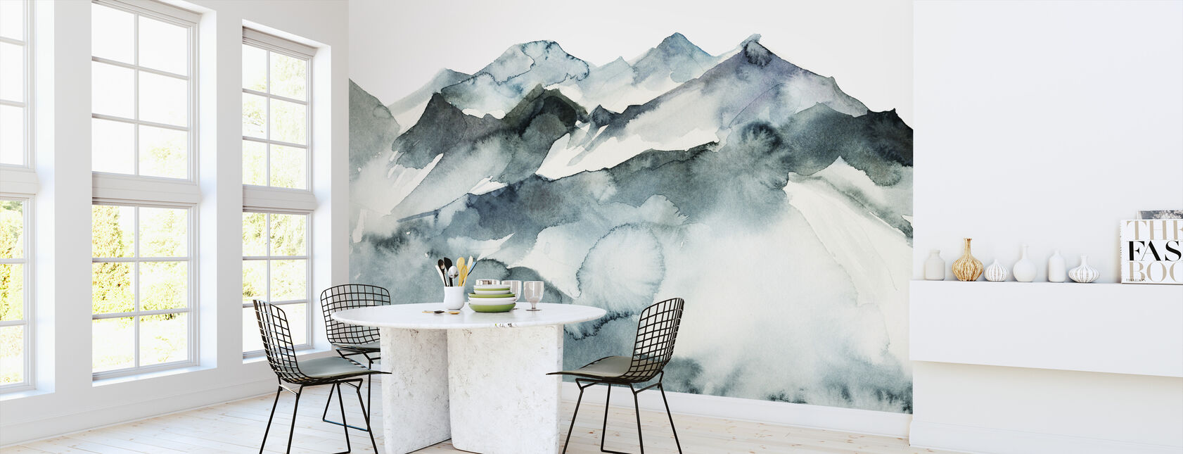 Watercolor Mountains - Wallpaper - Kitchen