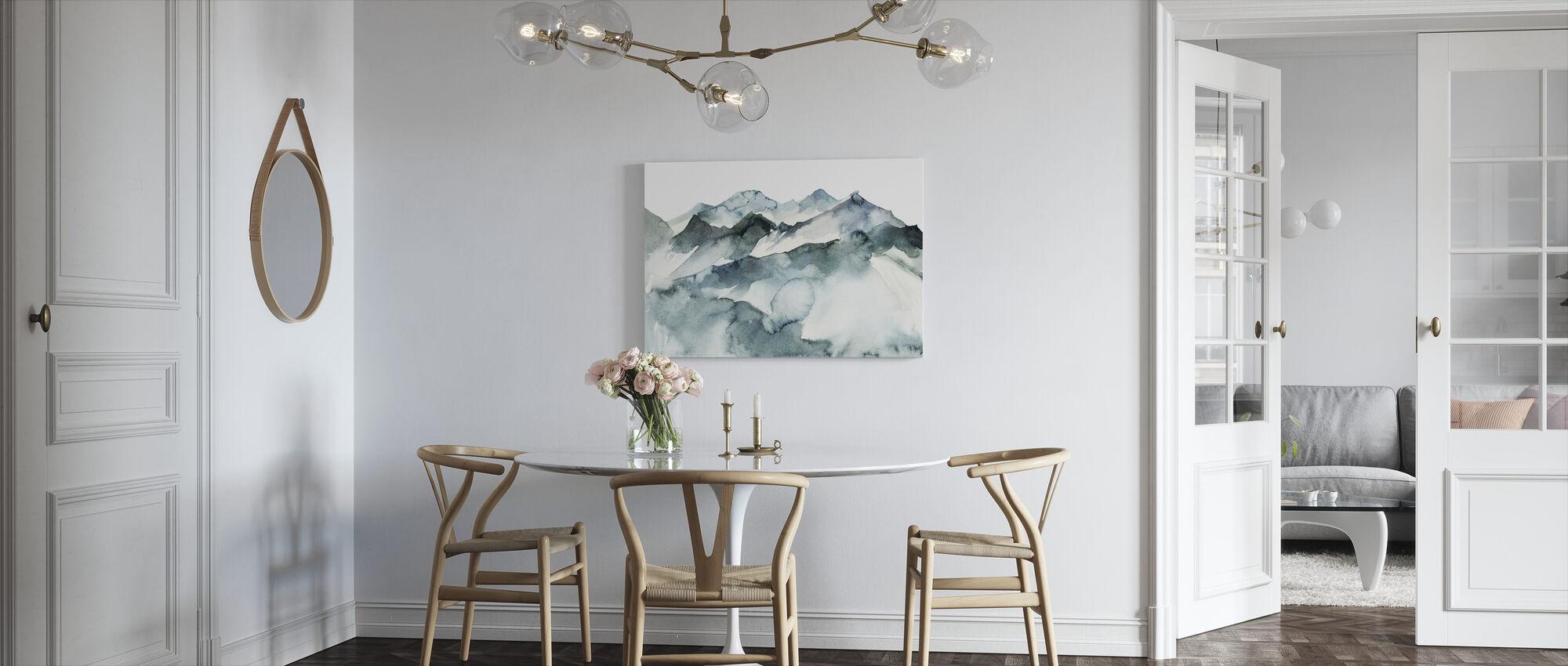 Watercolor Mountains - Canvas print - Kitchen