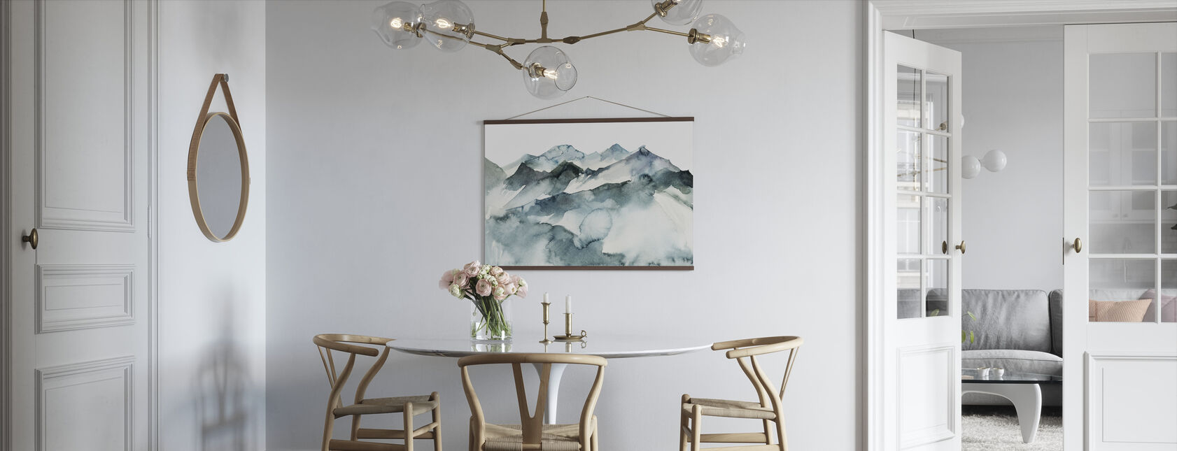 Watercolor Mountains - Poster - Kitchen