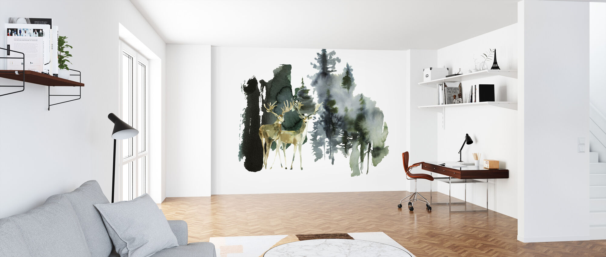 Watercolor Nature - Wallpaper - Office