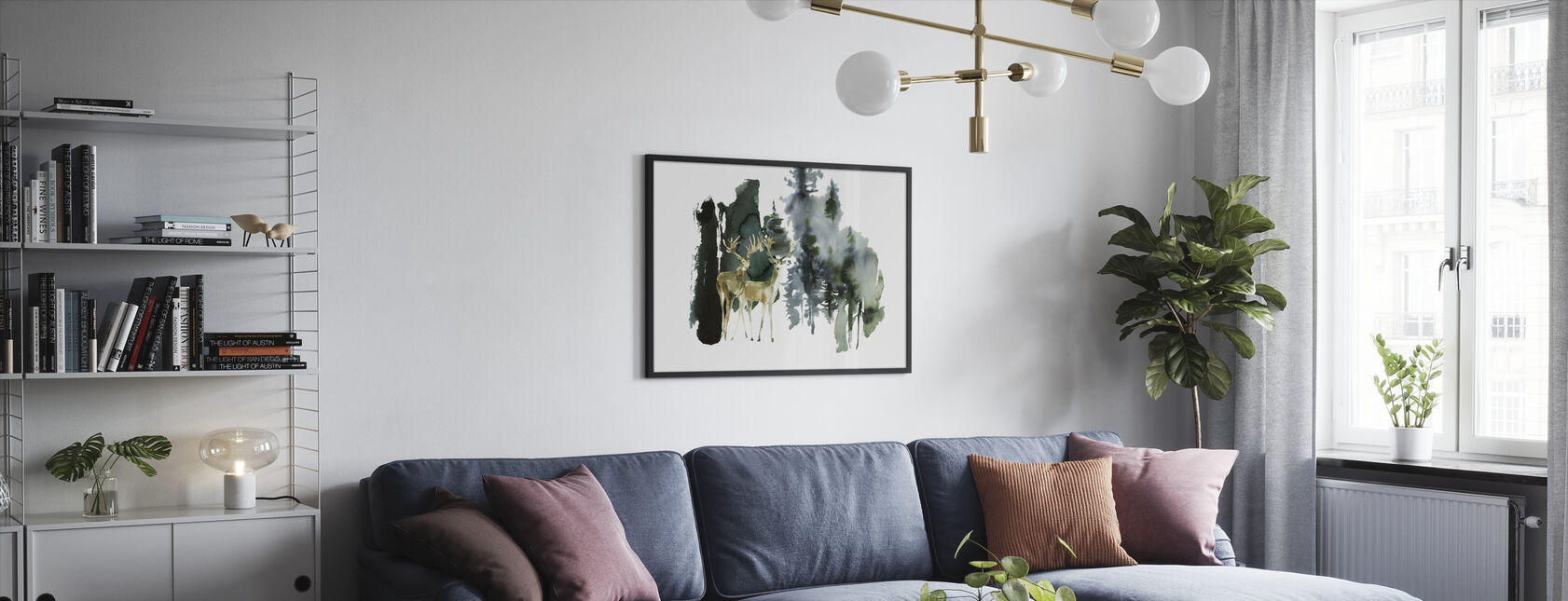 Watercolor Nature - Framed print - Living Room