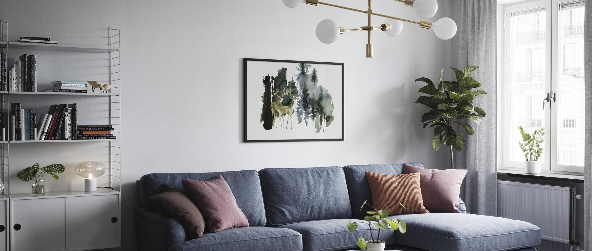 Watercolor Nature - Framed print - Living Room