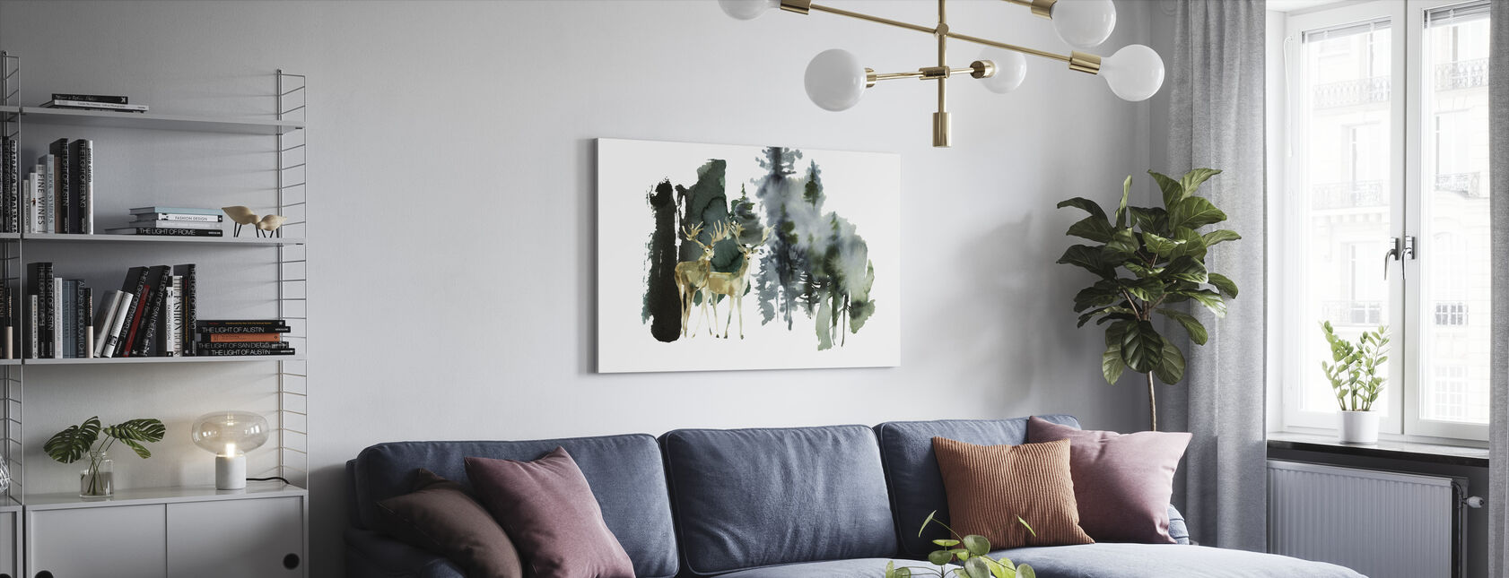 Watercolor Nature - Canvas print - Living Room