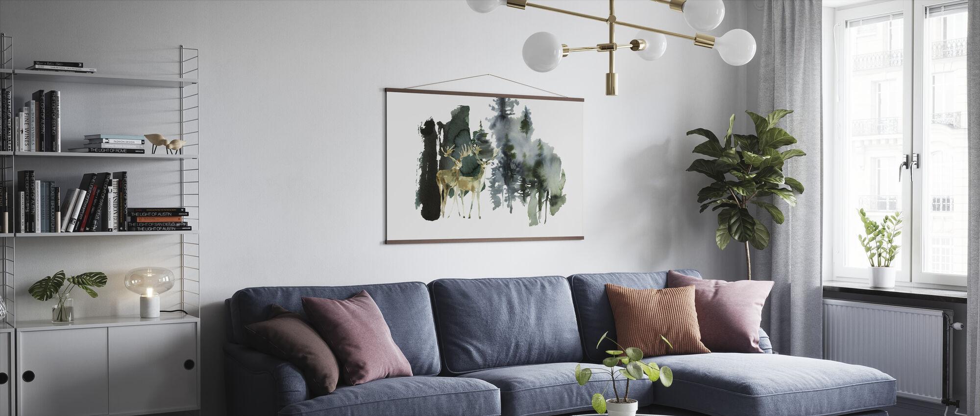 Akvarell Natur - Poster - Vardagsrum