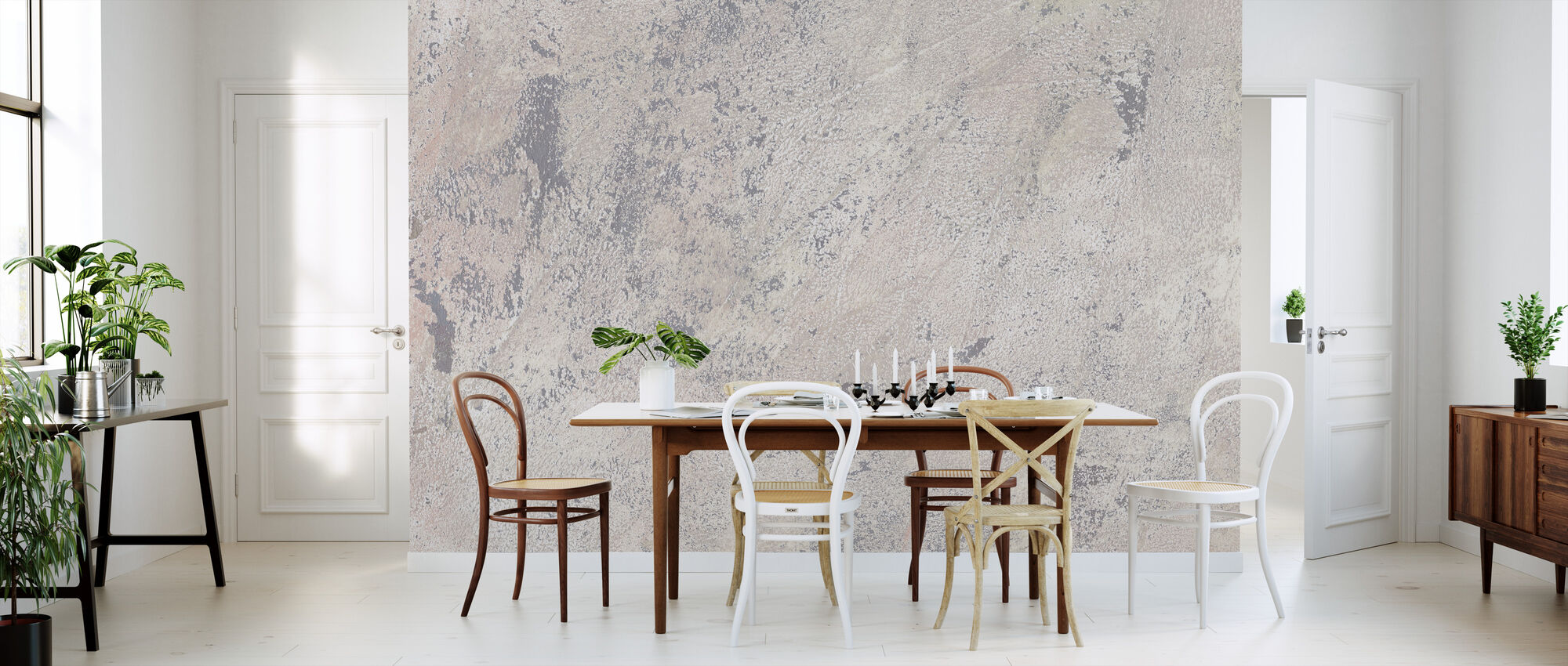 Weathered Toned Wall - Wallpaper - Kitchen