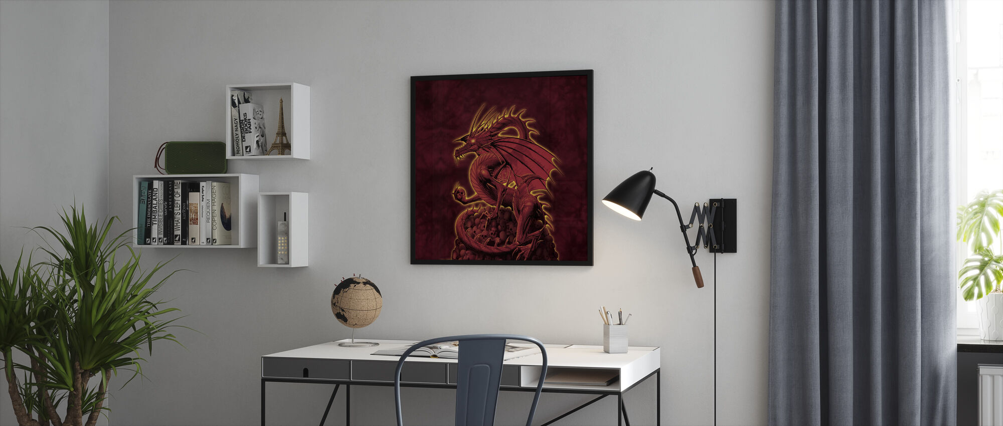 Bolisher punainen versio - Kehystetty kuva - Toimisto
