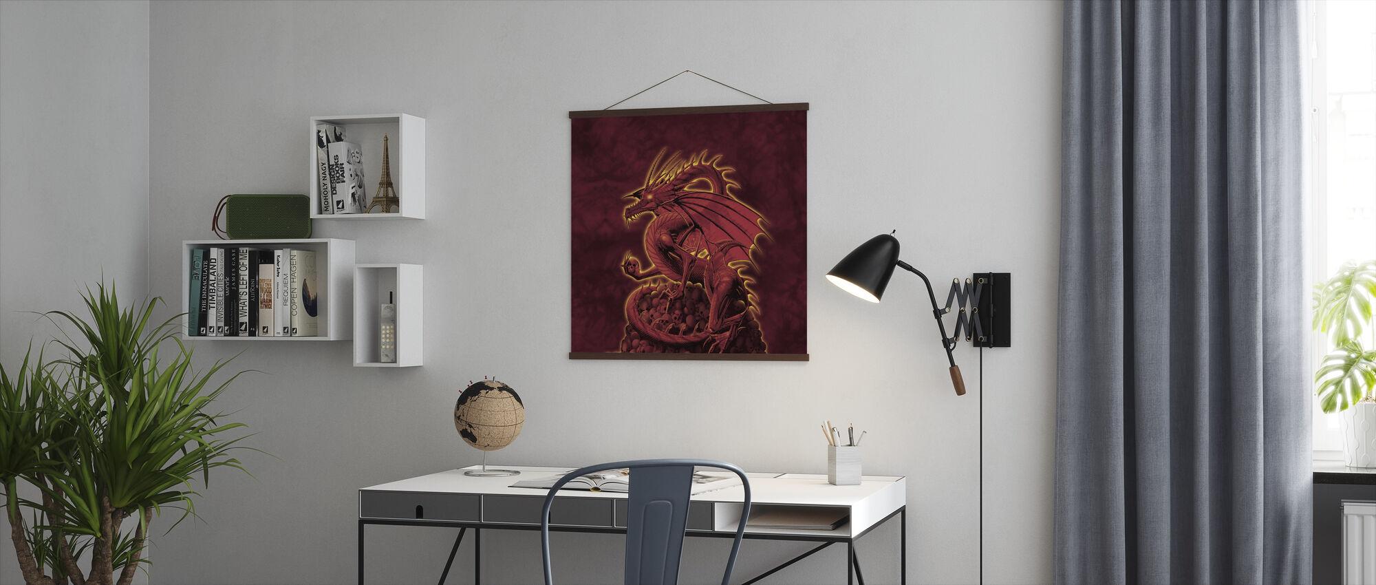 Wersja czerwona zlikwidowana - Plakat - Biuro