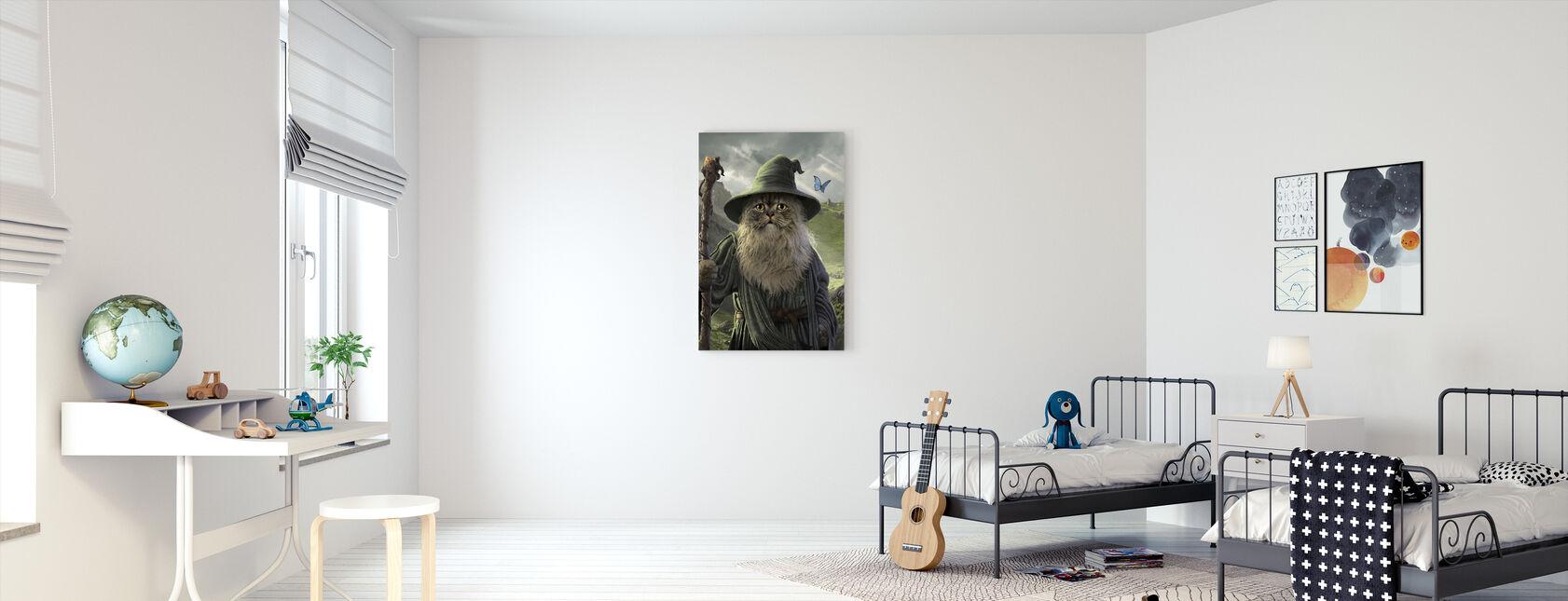 Katdalf - Billede på lærred - Børneværelse