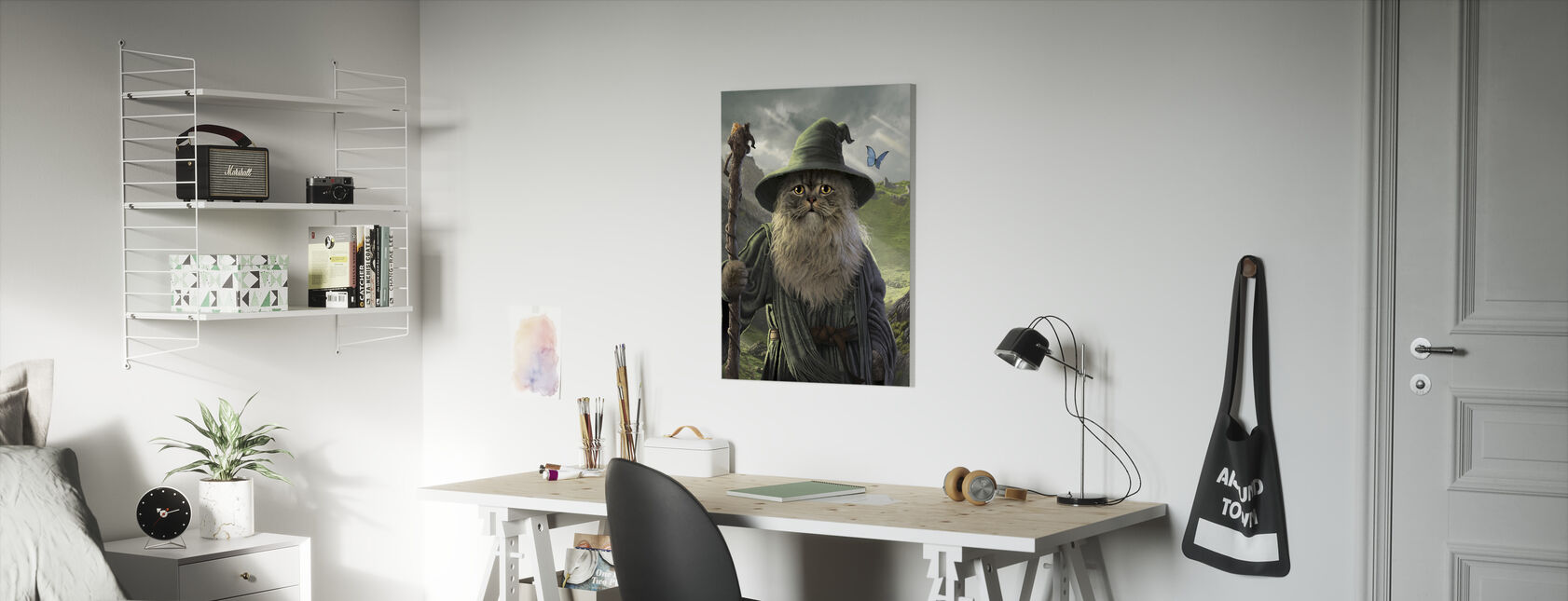 Catdalf - Canvas print - Kids Room