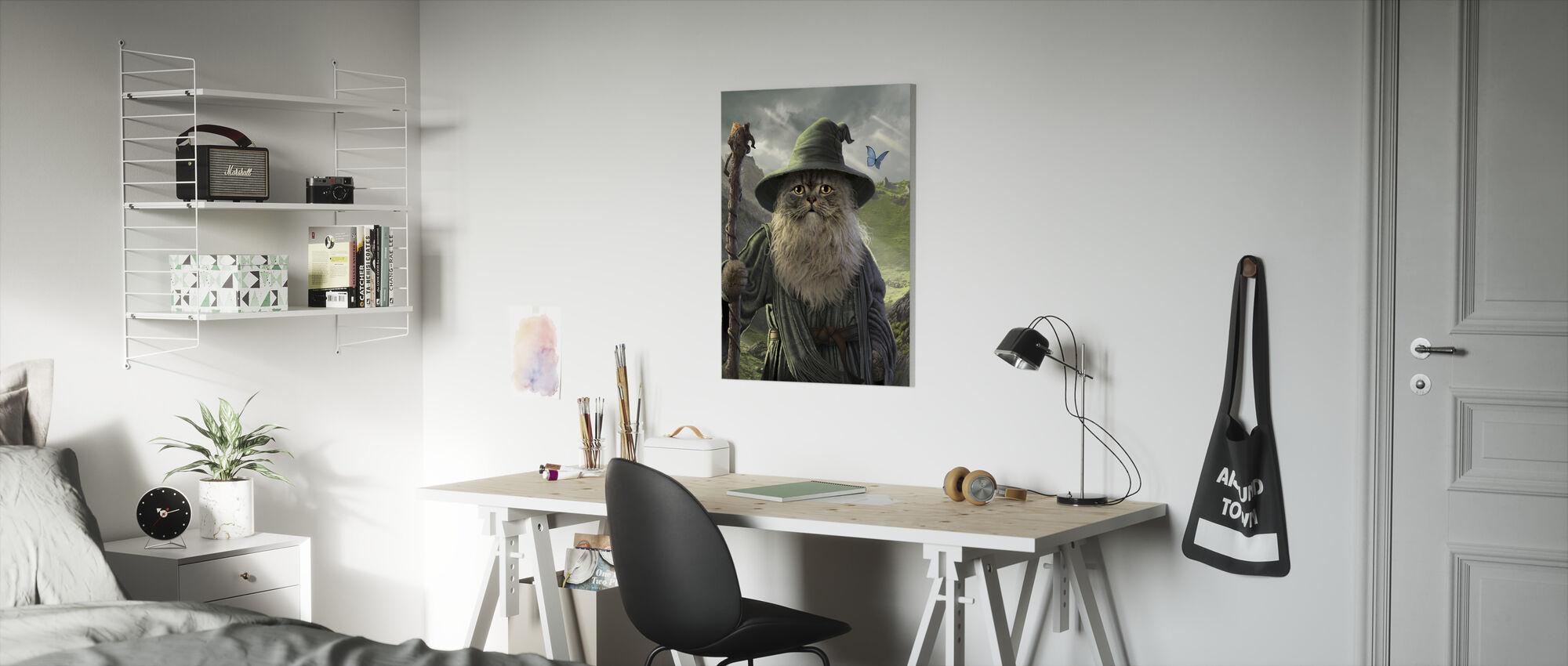 Catdalf - Canvas print - Kids Room