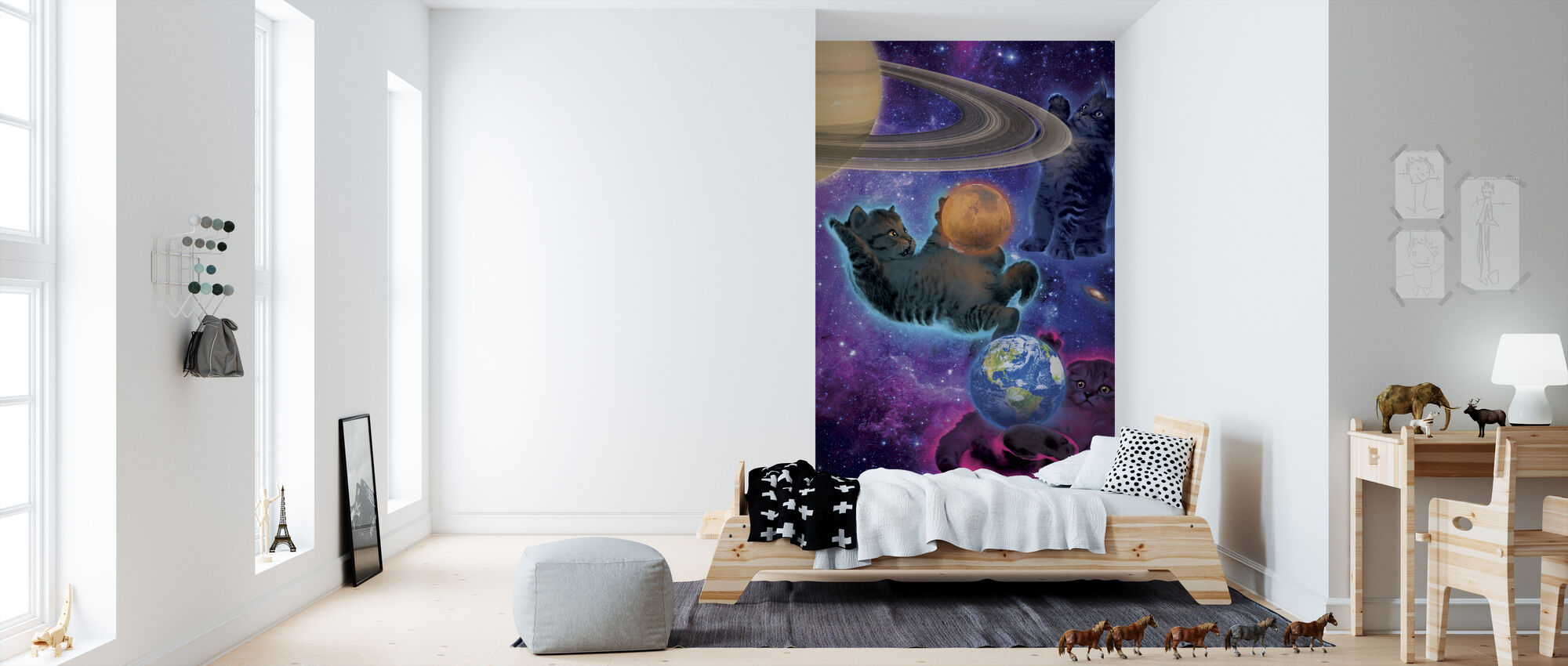 Kosmische Kittens - Behang - Kinderkamer