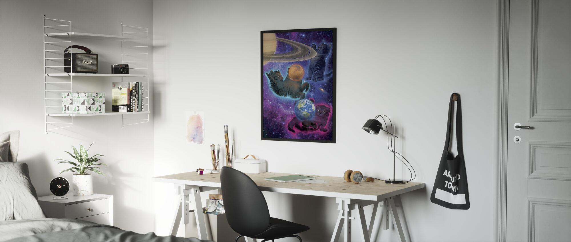 Cosmic Kittens - Framed print - Kids Room