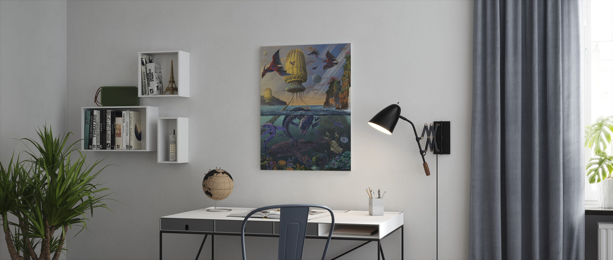 Cyris Undiscovered - Canvas print - Office