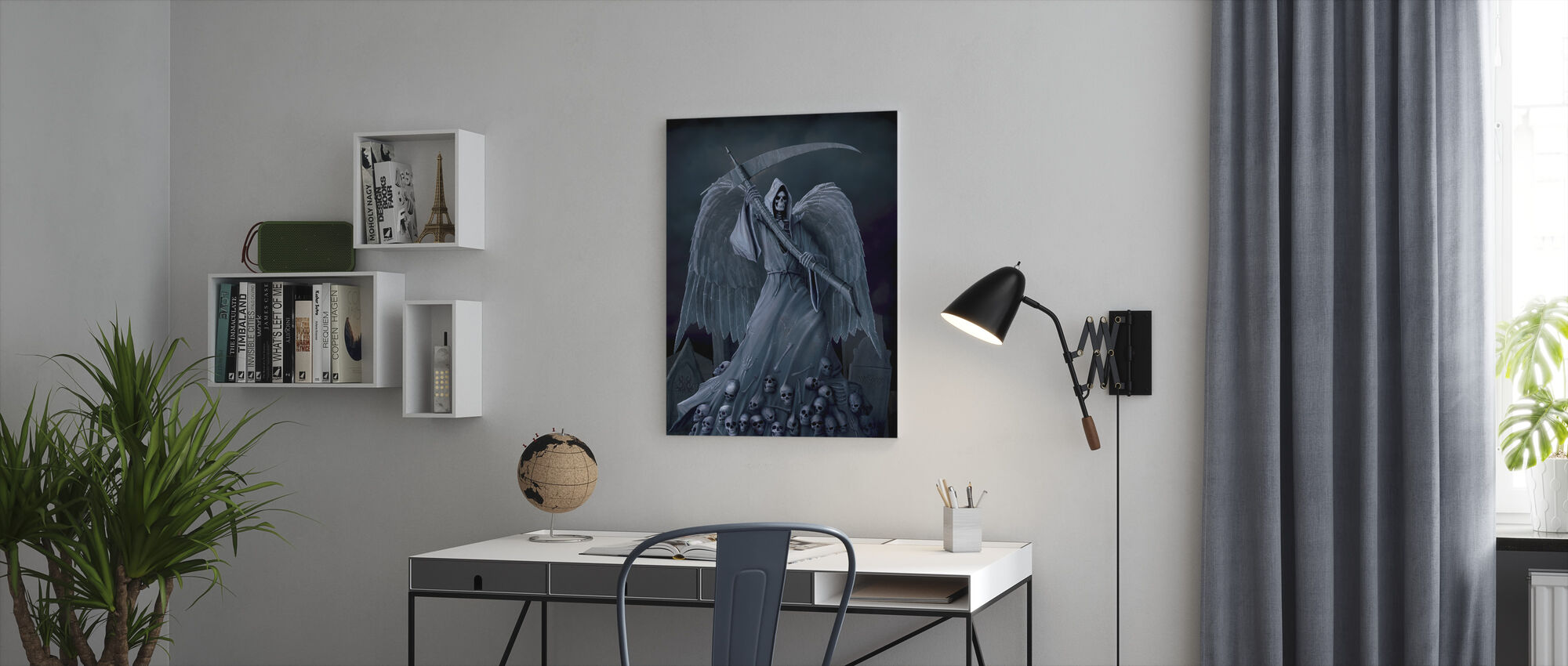 Death on a Hold - Canvas print - Office