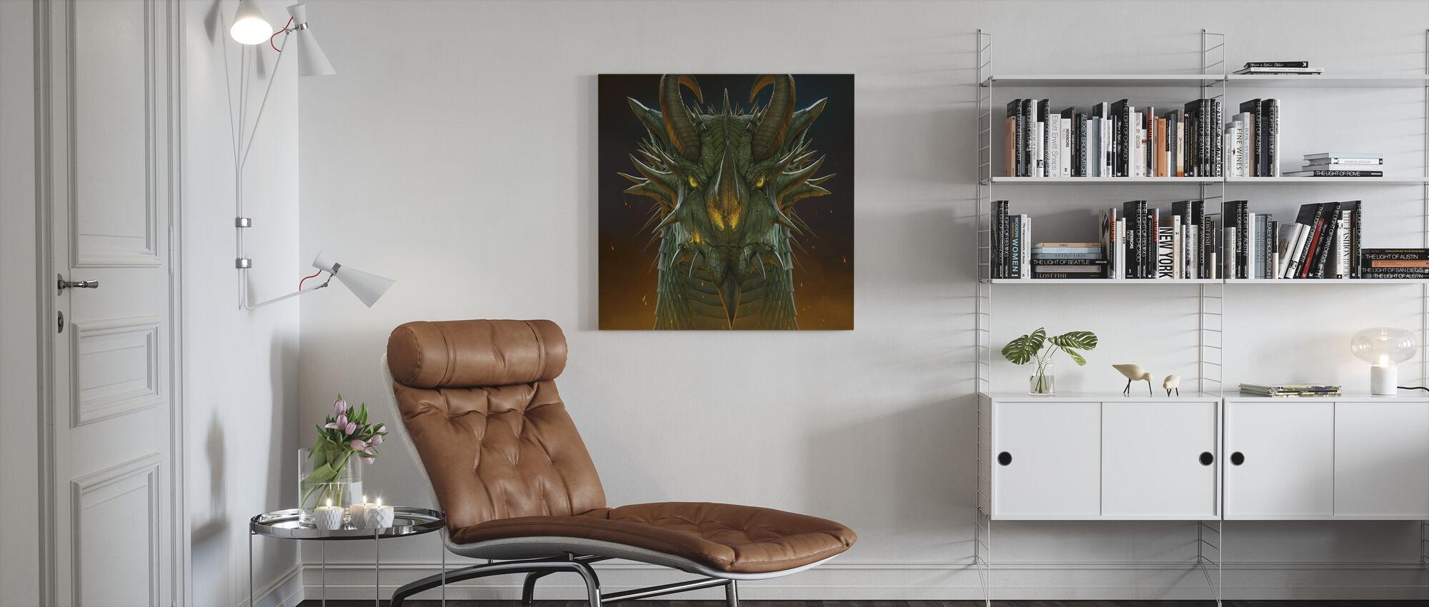 Dragon Portrait - Canvas print - Living Room