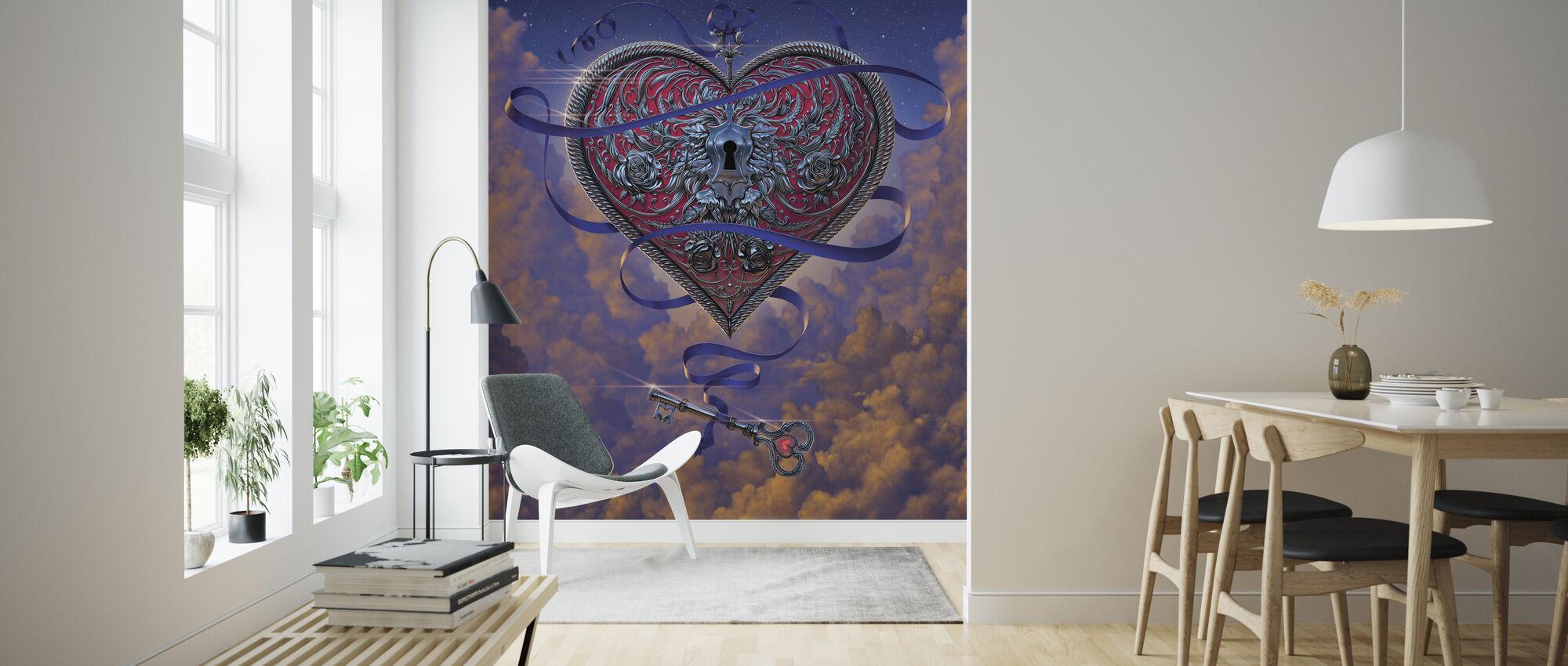 Sydän ja avain - Tapetti - Olohuone