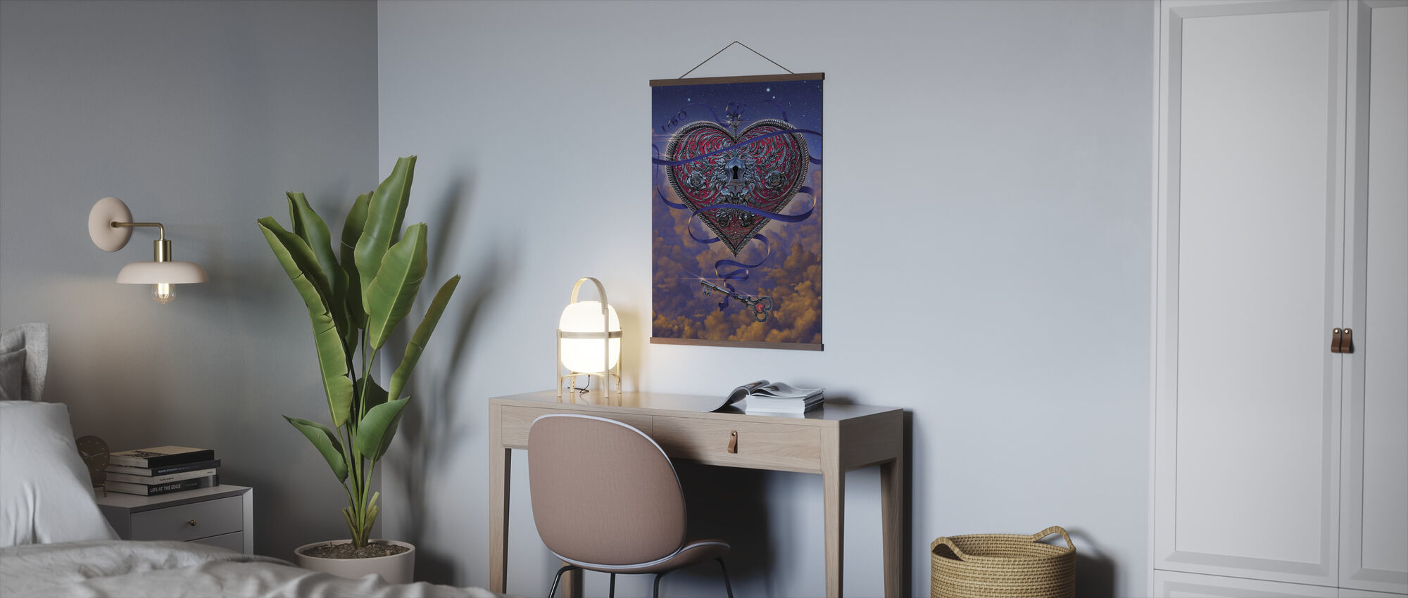 Heart and Key - Poster - Office