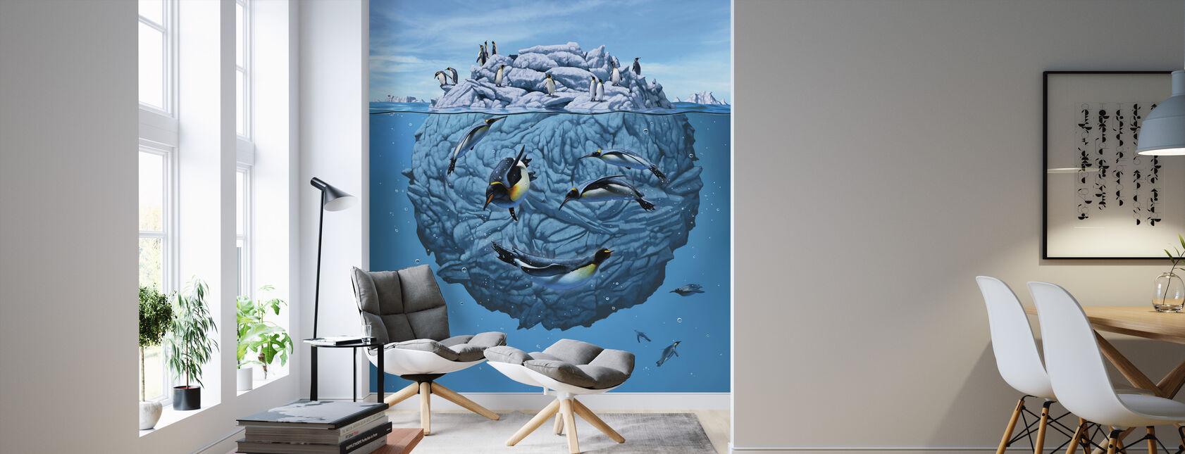 Pingvin Blink - Tapet - Stue