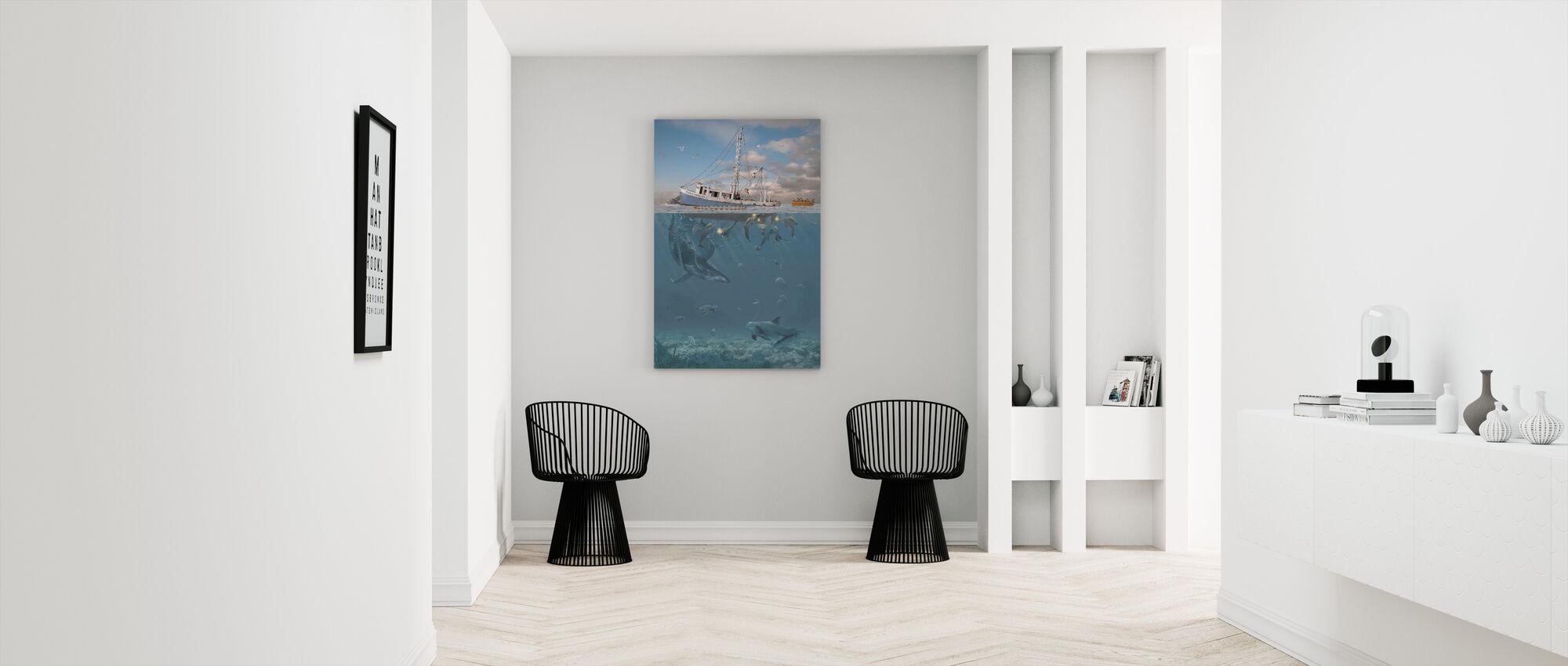 Delfiinin raivo - Canvastaulu - Aula