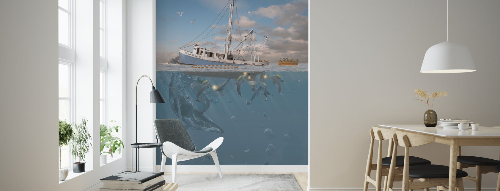 Rage of the Dolphin - Wallpaper - Living Room