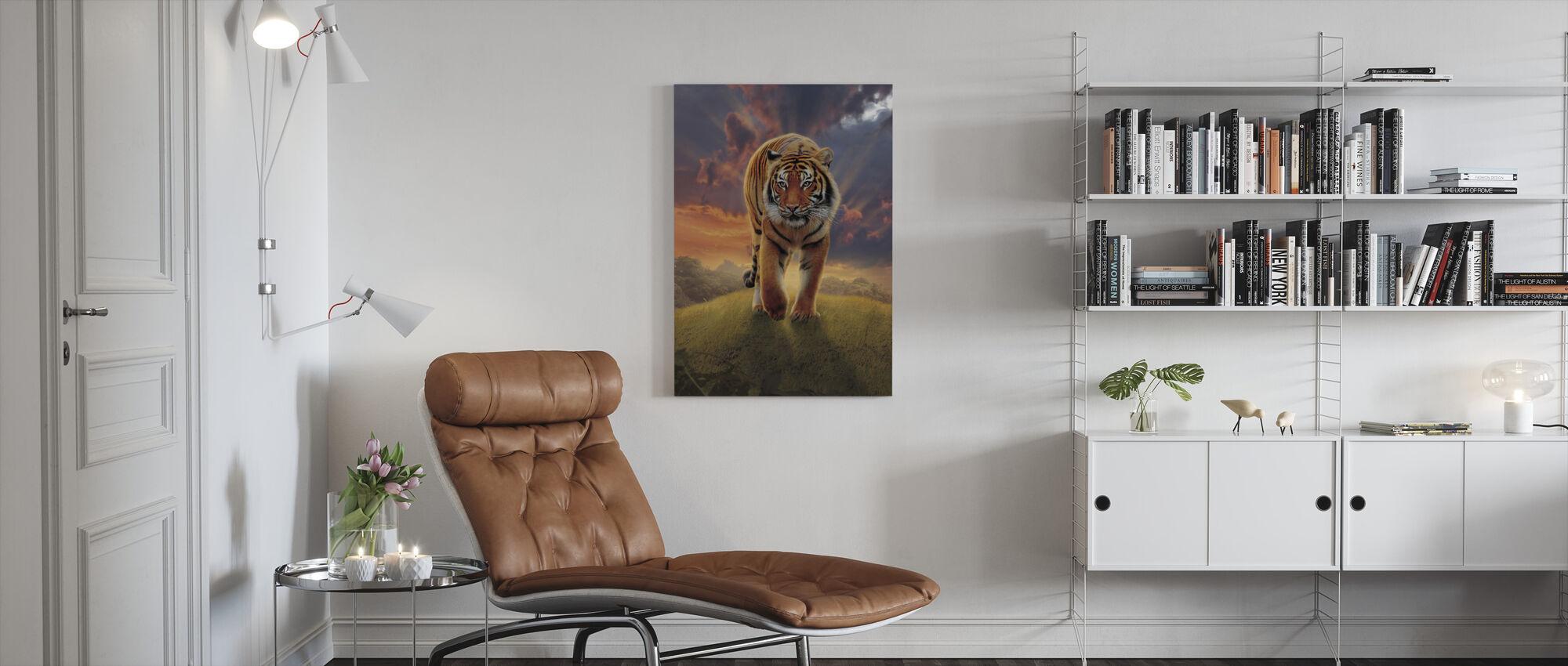 Rising Tiger - Canvas print - Living Room