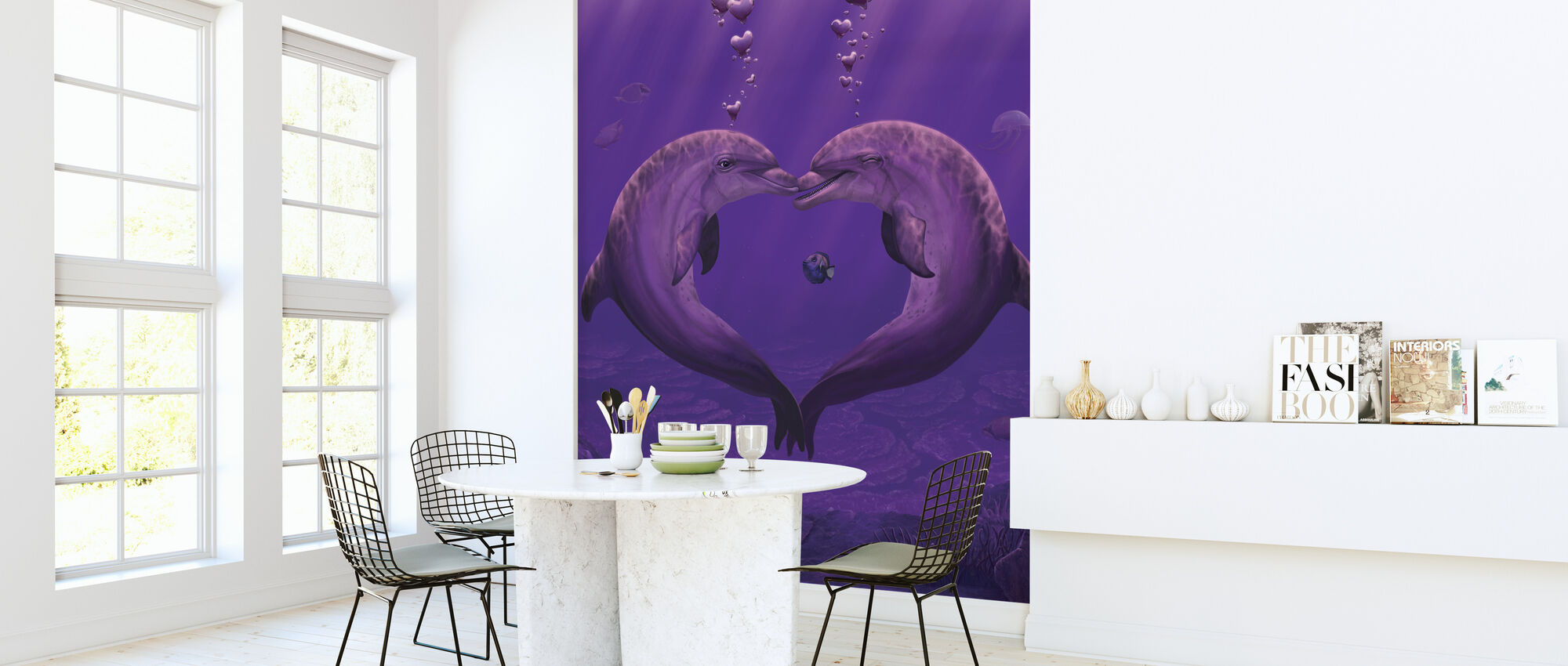 Sea of Hearts - Wallpaper - Kitchen