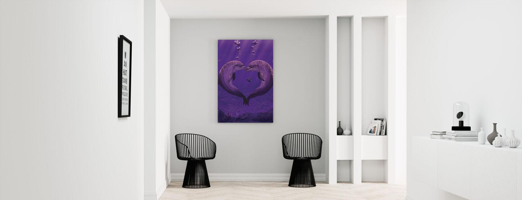 Hav av av hjärtan - Canvastavla - Hall