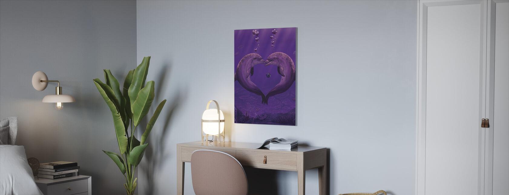 Hav av av hjärtan - Canvastavla - Kontor