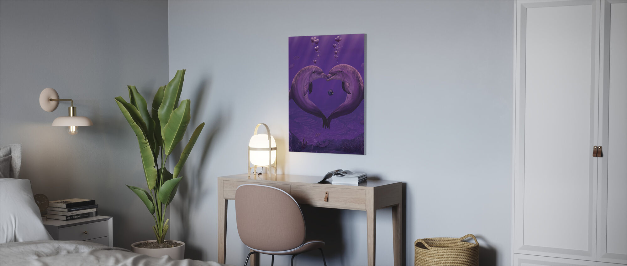 Sea of Hearts - Canvas print - Office