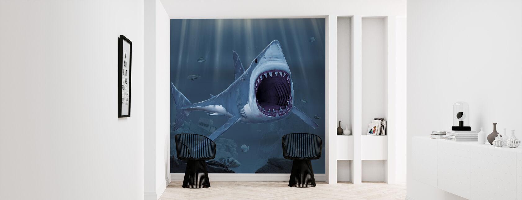 Shark Bite - Wallpaper - Hallway