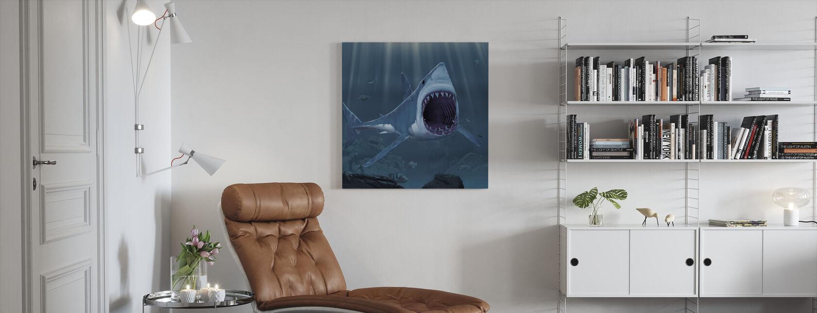 Haaienbeet - Canvas print - Woonkamer