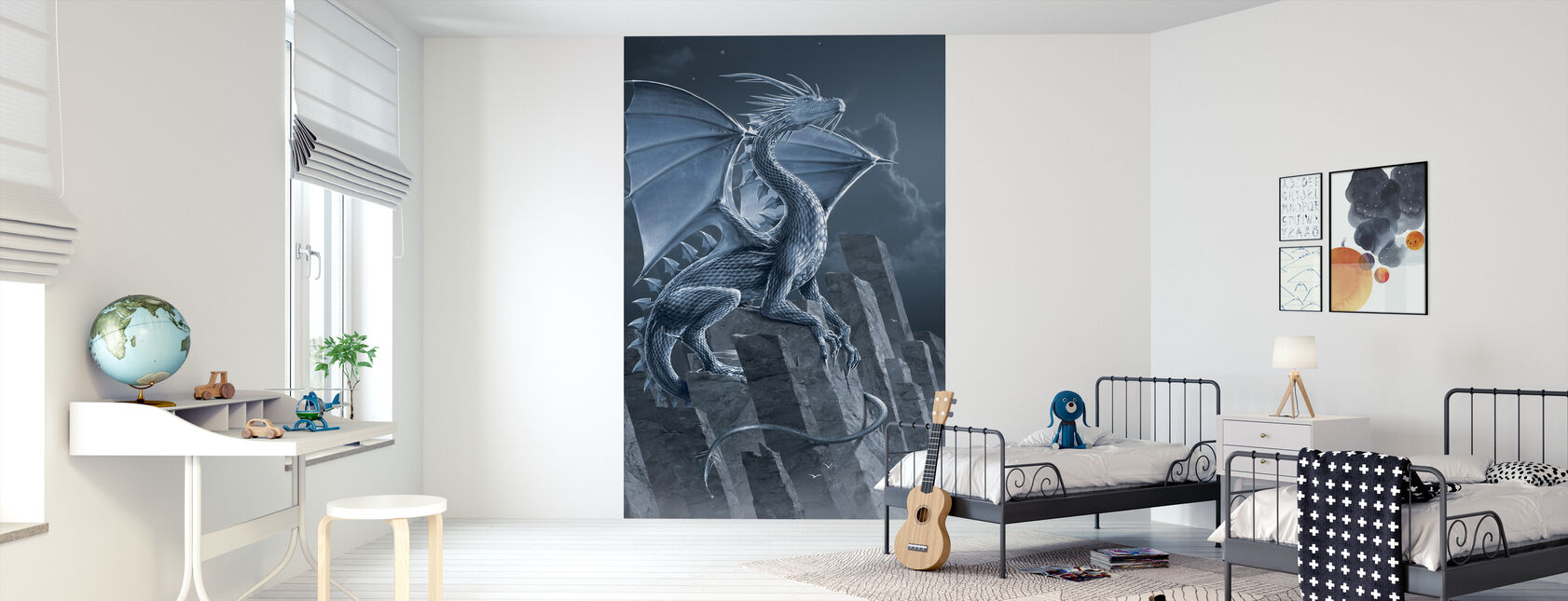 Silver Dragon - Wallpaper - Kids Room