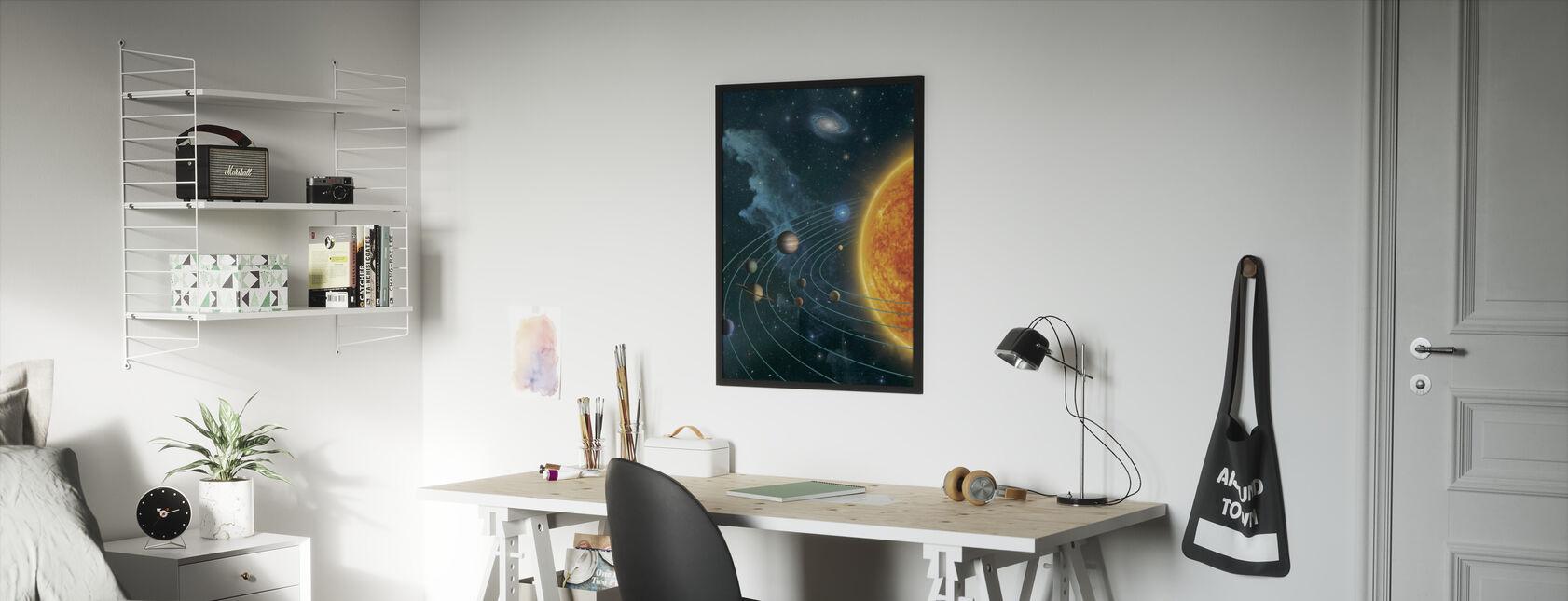 Solar System - Framed print - Kids Room