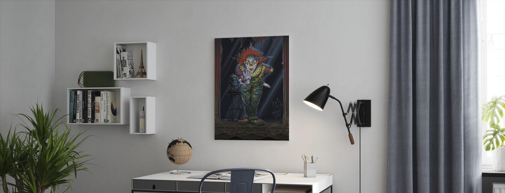 Verrassing Clown - Canvas print - Kantoor
