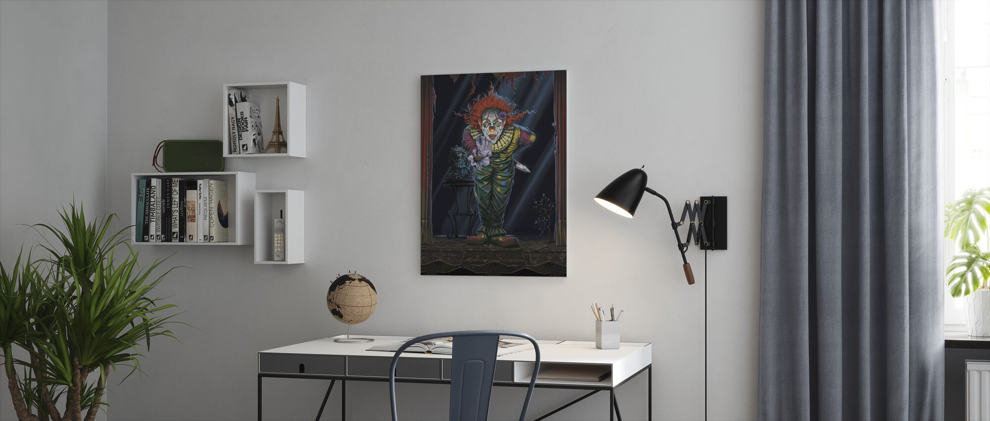 Surprise Clown - Canvas print - Office