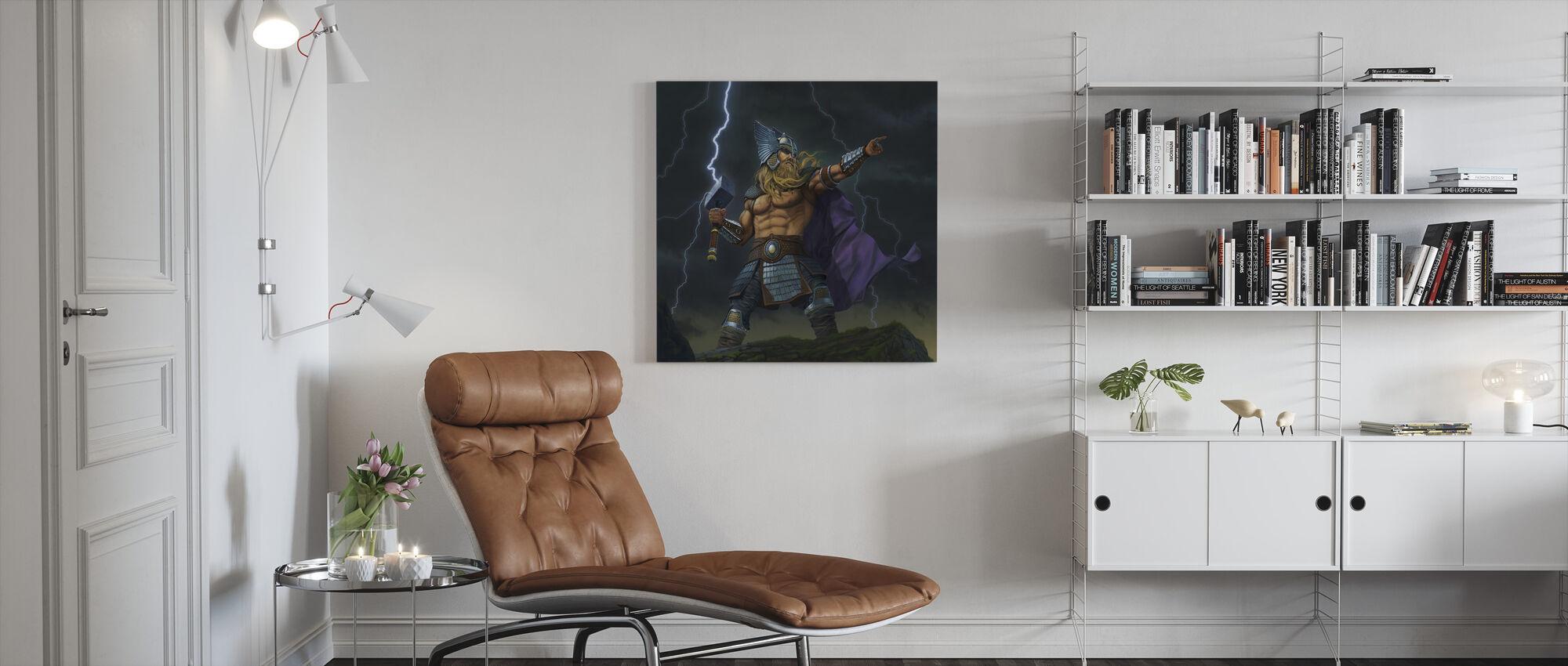 Thor Gud av torden - Lerretsbilde - Stue
