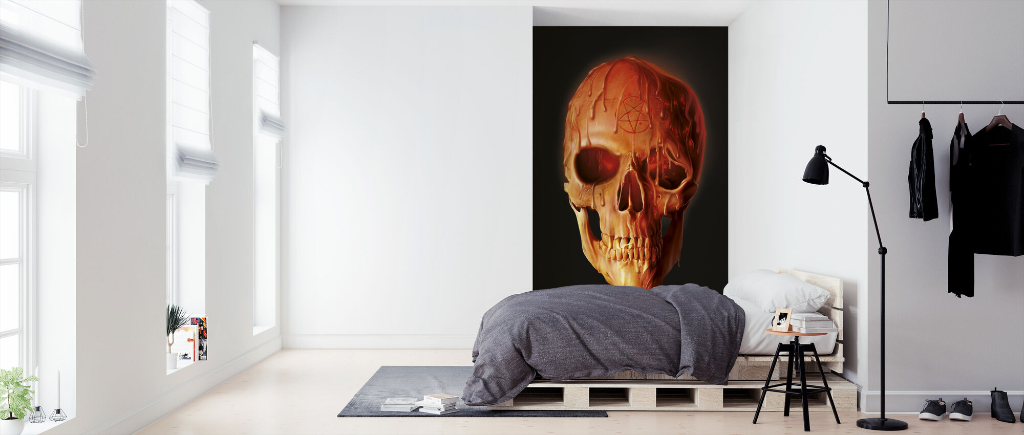 Wax Skull - Wallpaper - Bedroom
