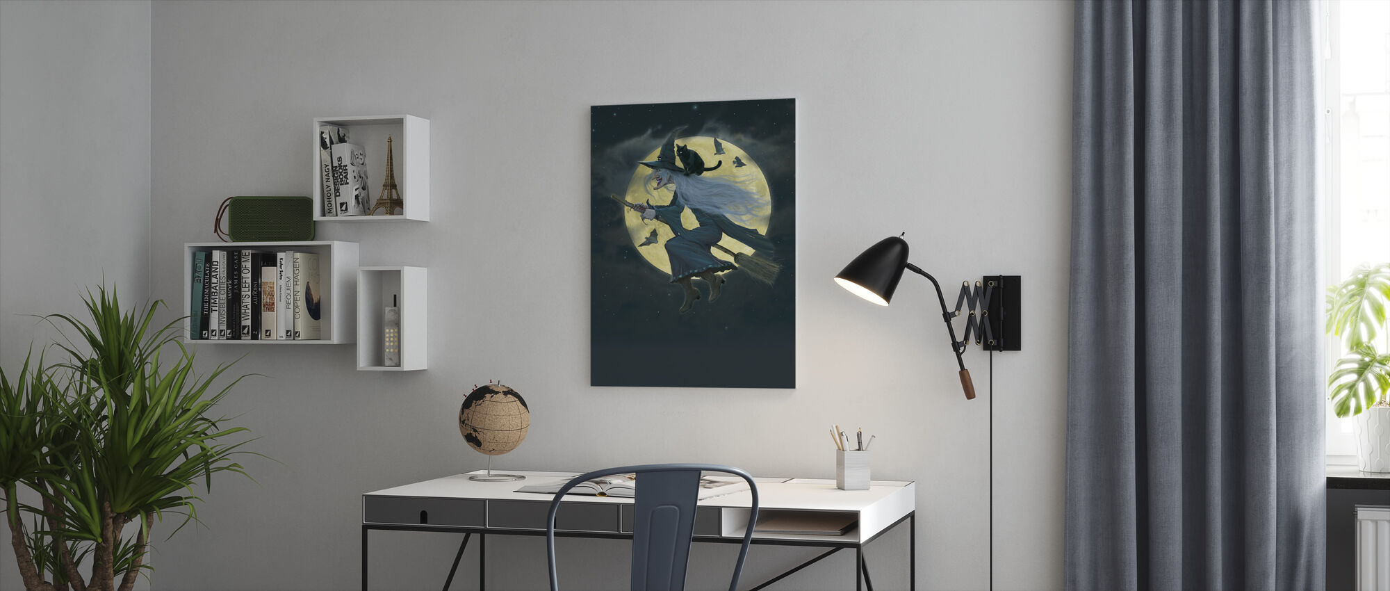 Witch - Canvas print - Office
