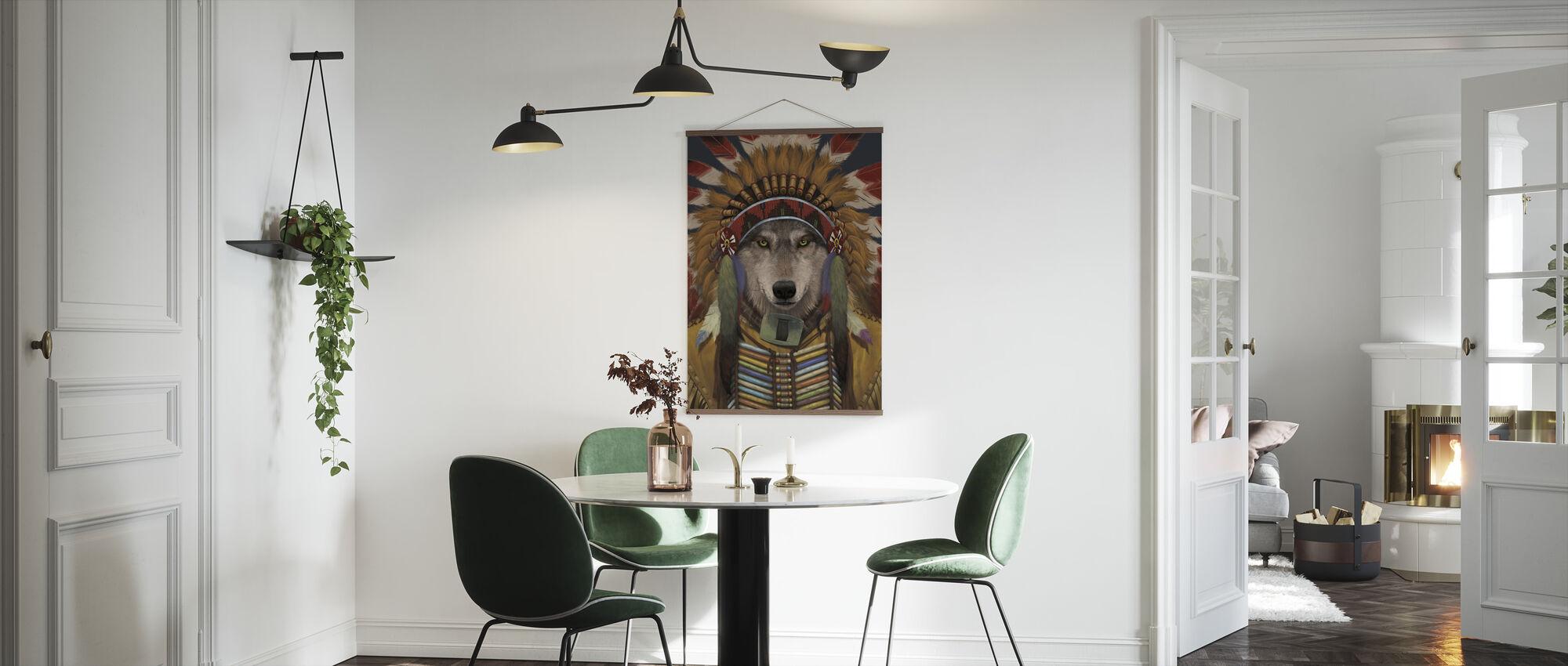 Wolf Spirit Chief - Poster - Kitchen