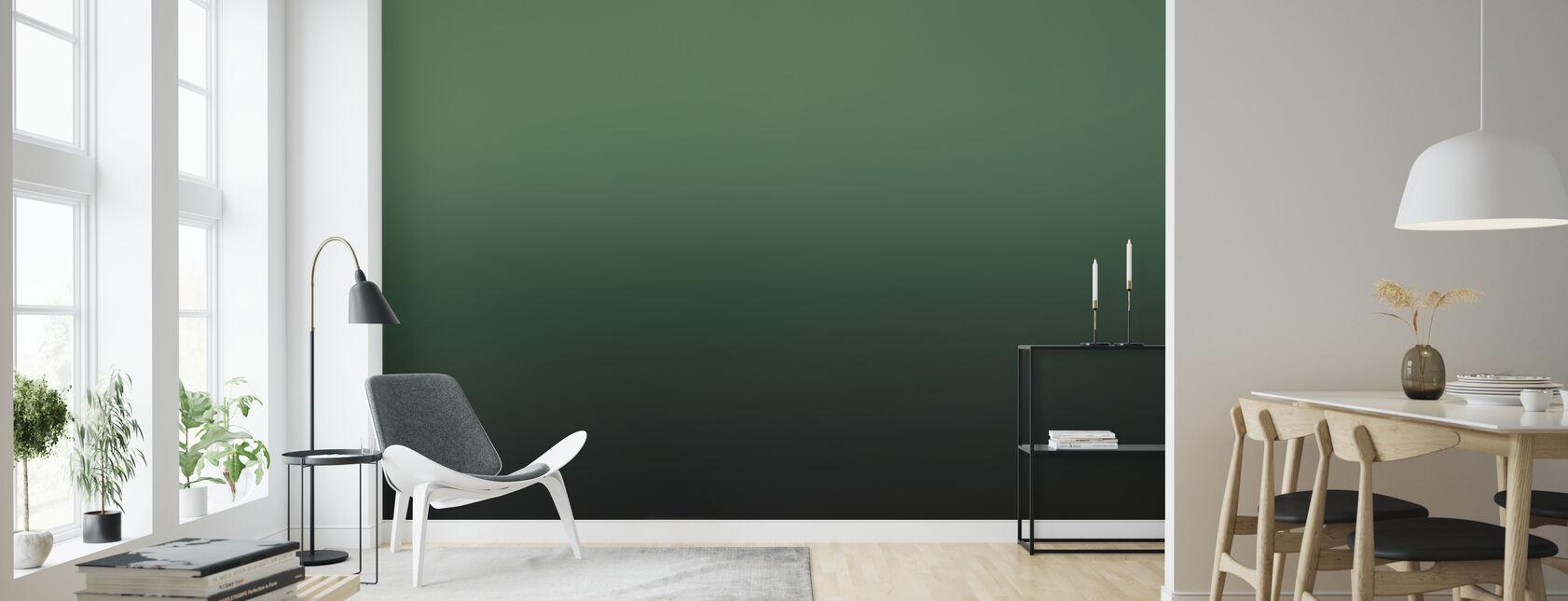 Miami Forest Grün - Tapete - Wohnzimmer