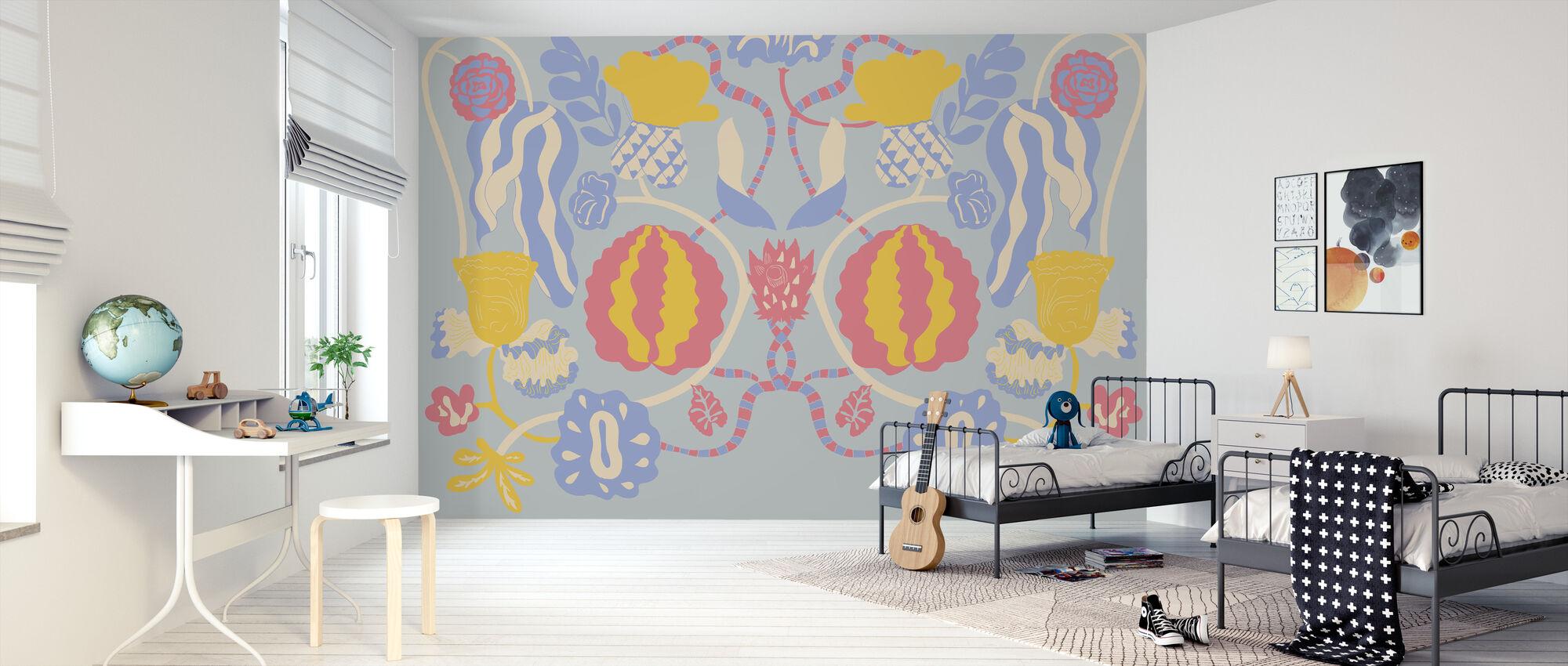 En Bloom Blue - Papel pintado - Cuarto de niños