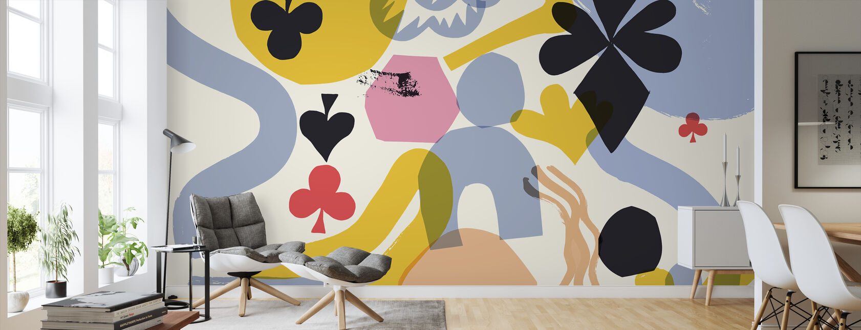 Playing Cards II - Wallpaper - Living Room