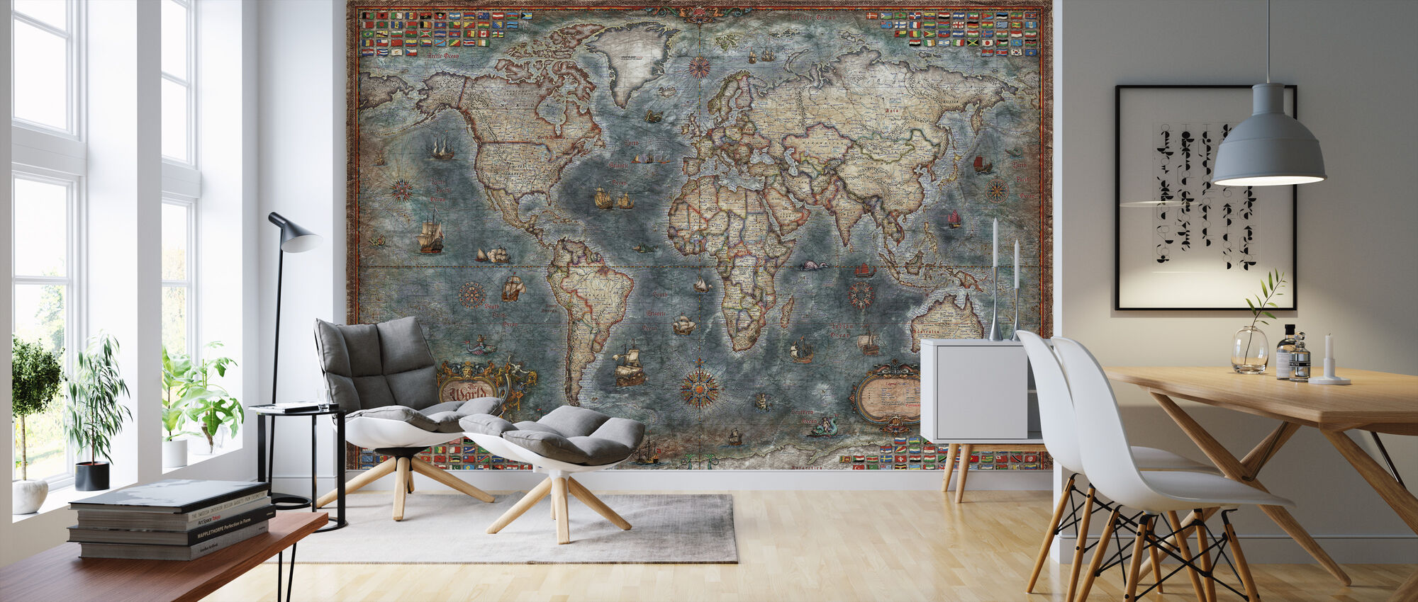 Old Style World Map High Quality Wall Murals With Free Delivery