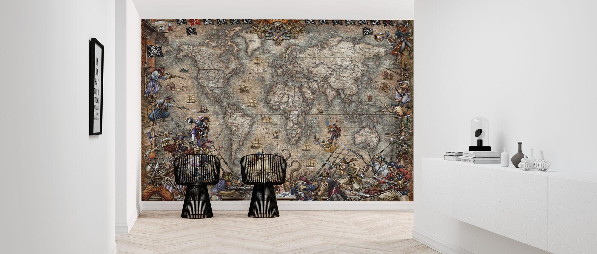 Pirates Map Trendy Wall Mural Photowall