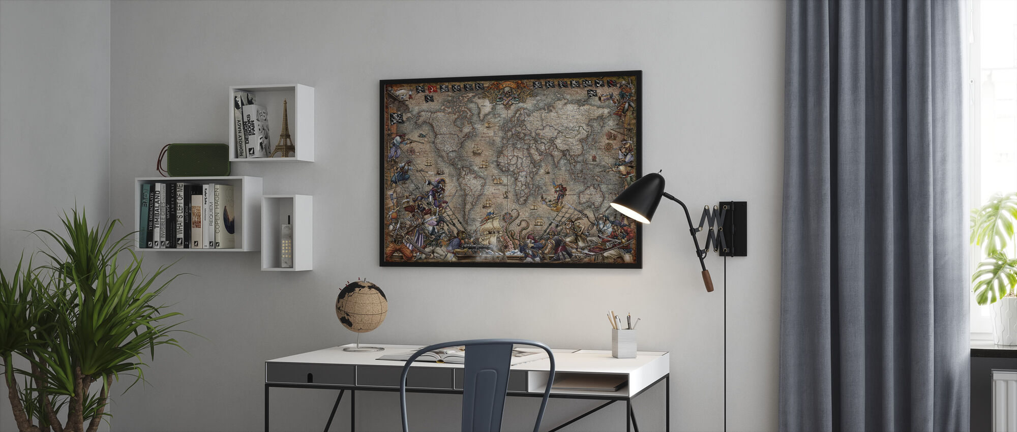 Pirates Map - Framed print - Office