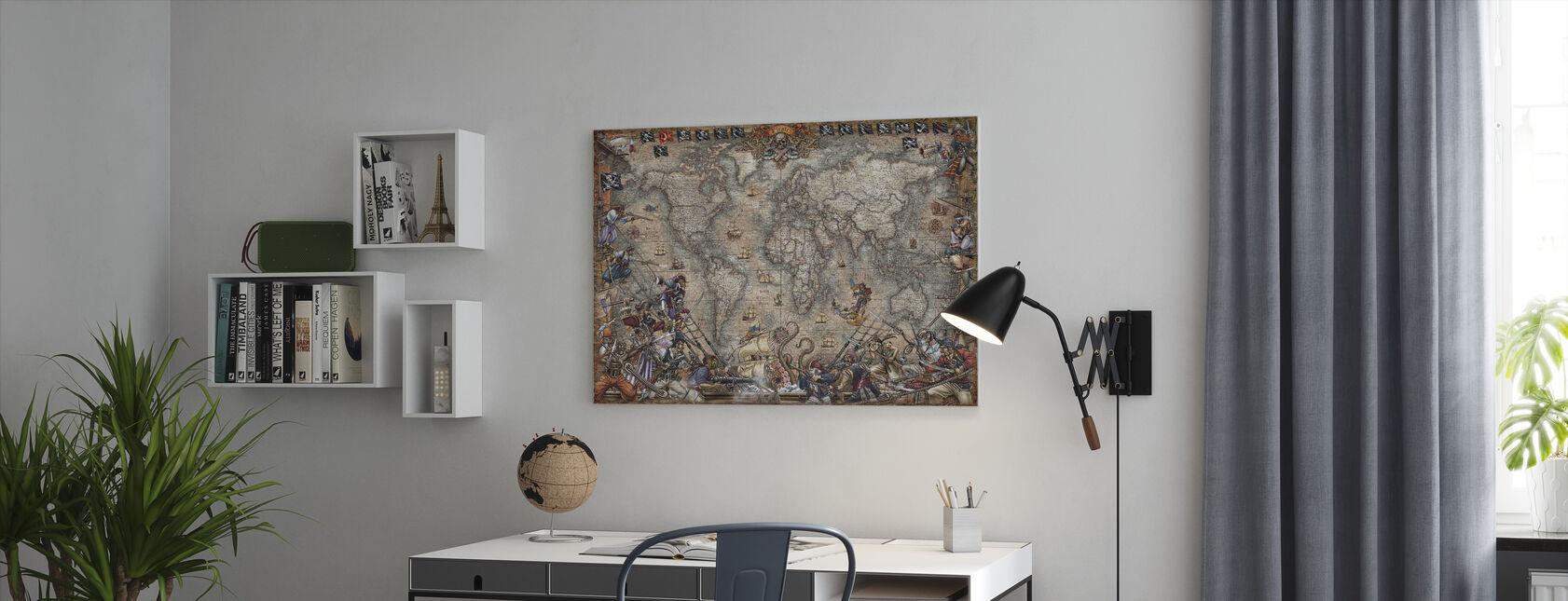 Pirates Map - Canvas print - Office