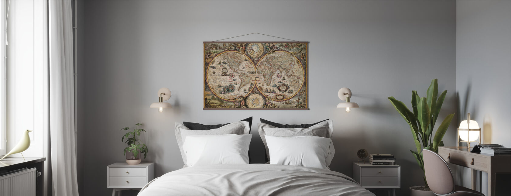 Vintage World Map - Poster - Bedroom