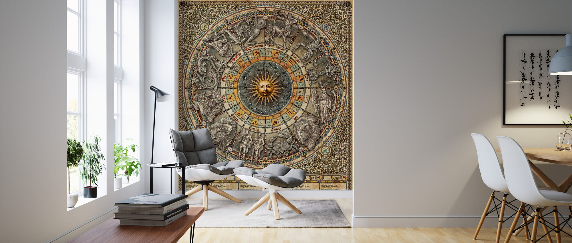Zodiac - Text - Behang - Woonkamer